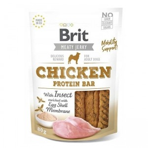 Brit Meaty Jerky Snack Protein Bar kurczak i owady - Chicken with Insect 80g
